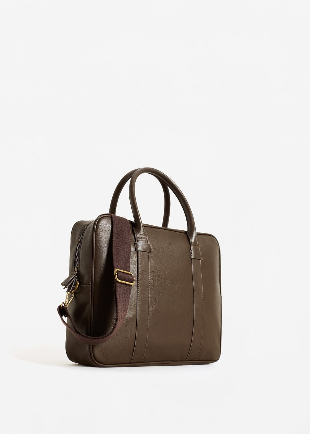 Pebbled briefcase | MANGO