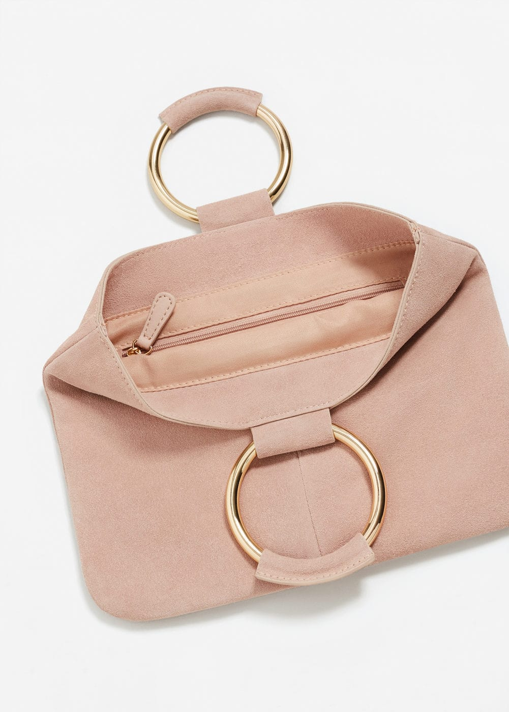 Ring leather clutch | MANGO