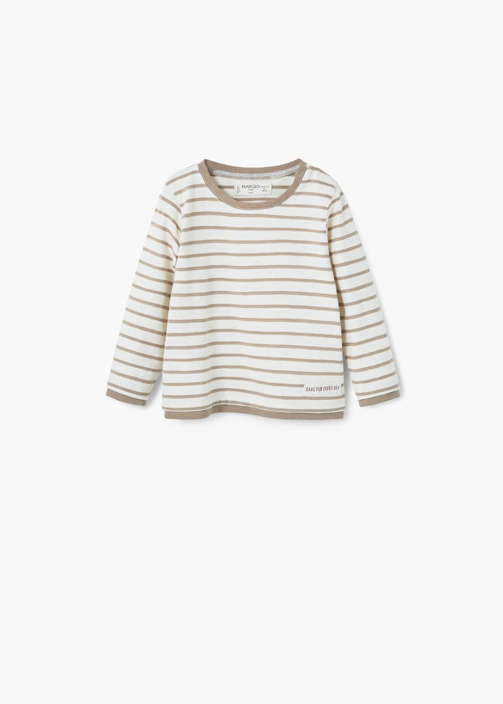Contrast edge t-shirt | MANGO KIDS
