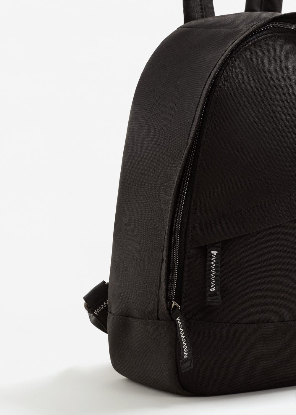 Contrast-appliqué canvas backpack | MANGO