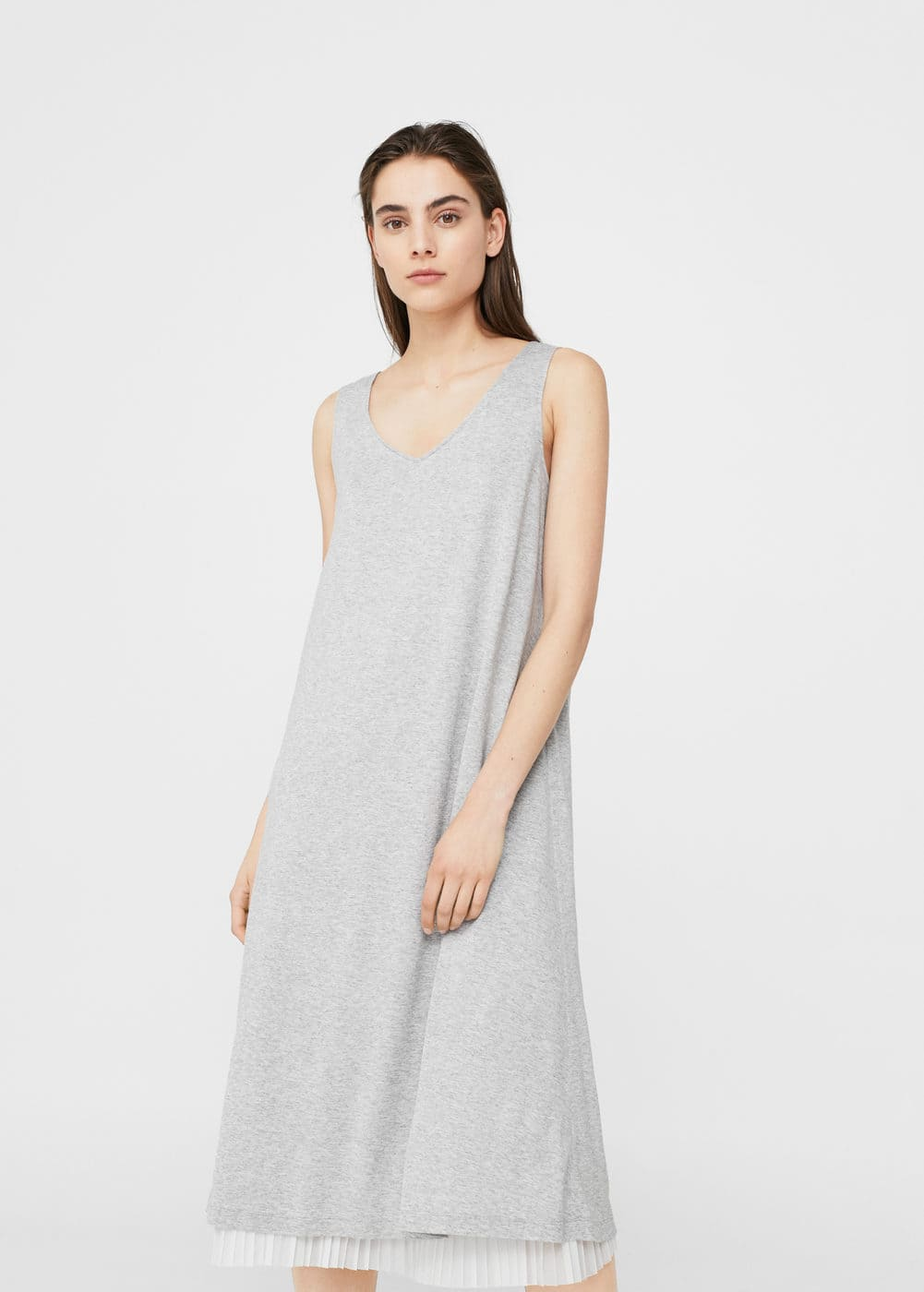 Pleated hem dress | MANGO