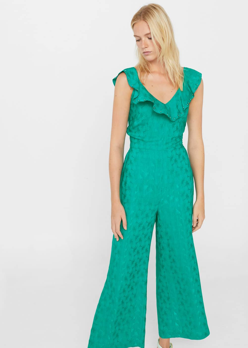 Appliqué cut-out jumpsuit | MANGO