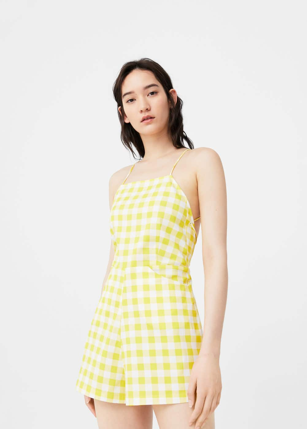 Gingham check jumpsuit | MANGO