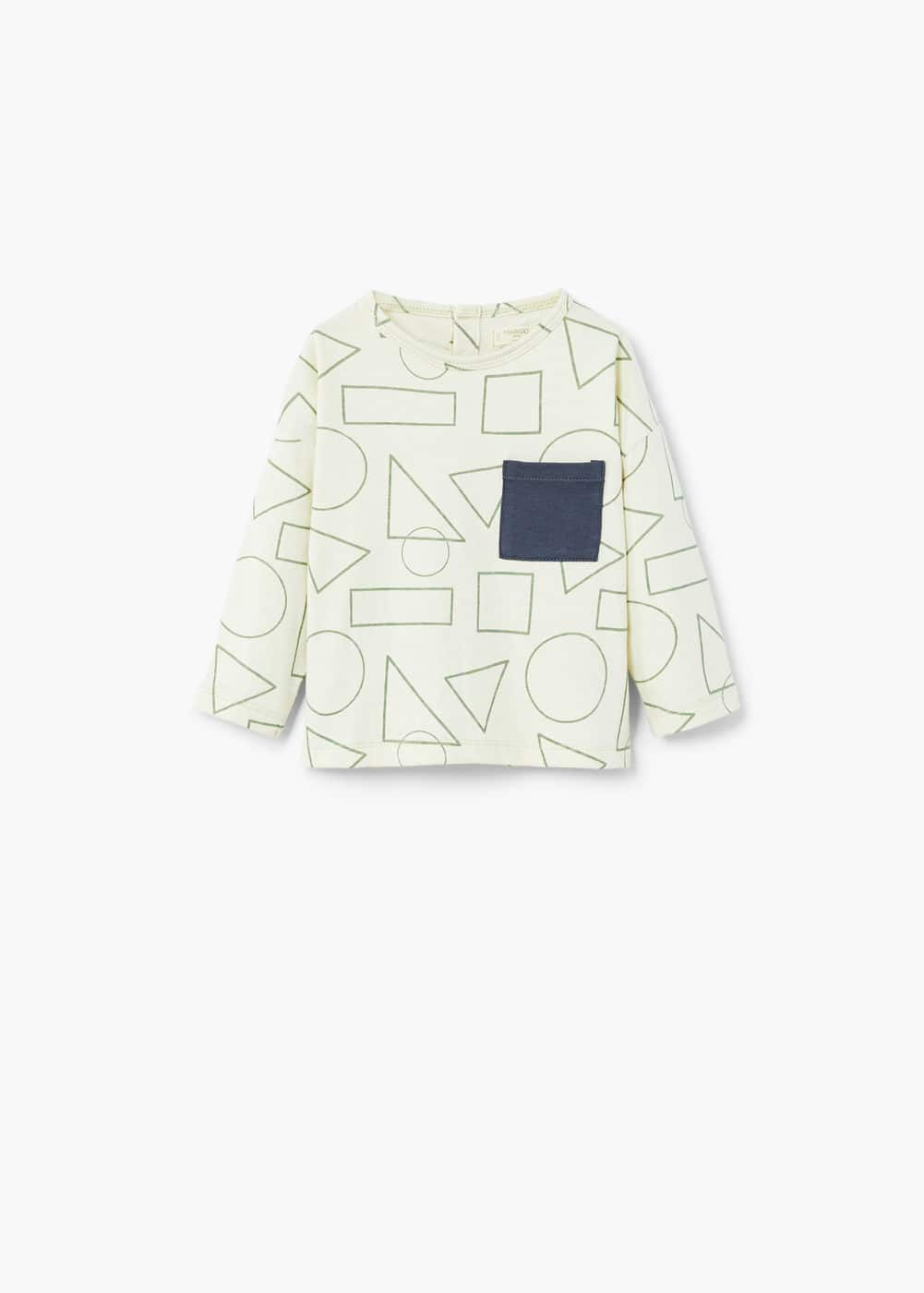 Chest-pocket printed t-shirt | MANGO