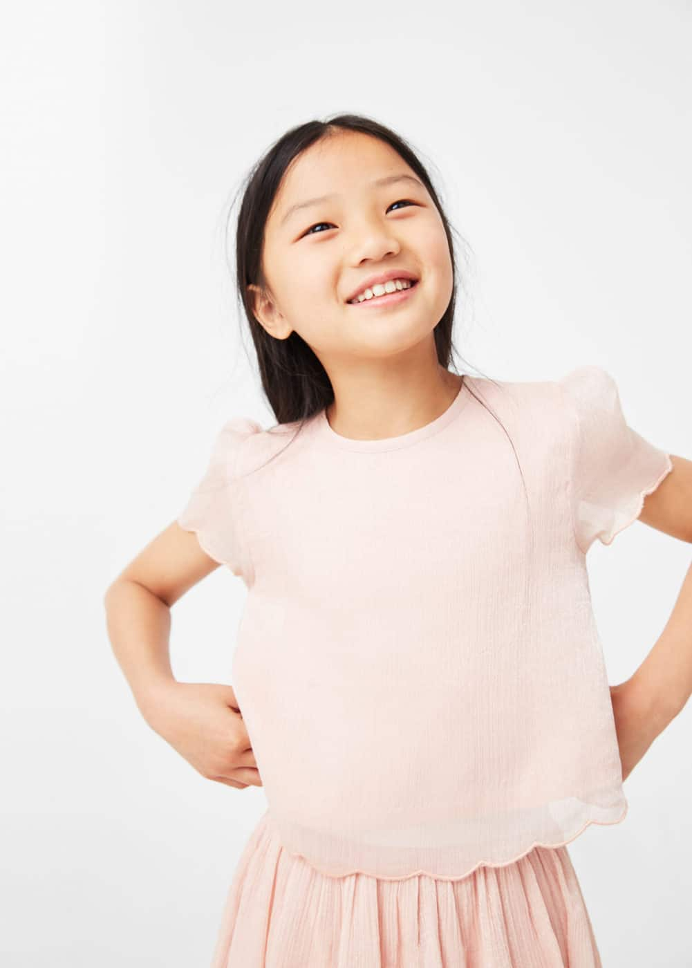 Metallic blouse | MANGO KIDS