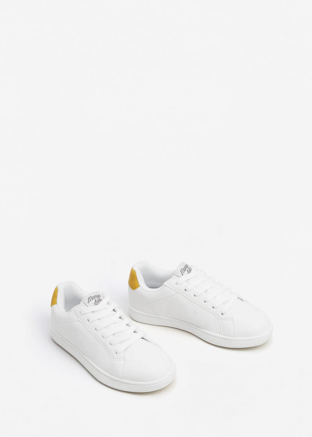 Linen lace-up sneakers | MANGO
