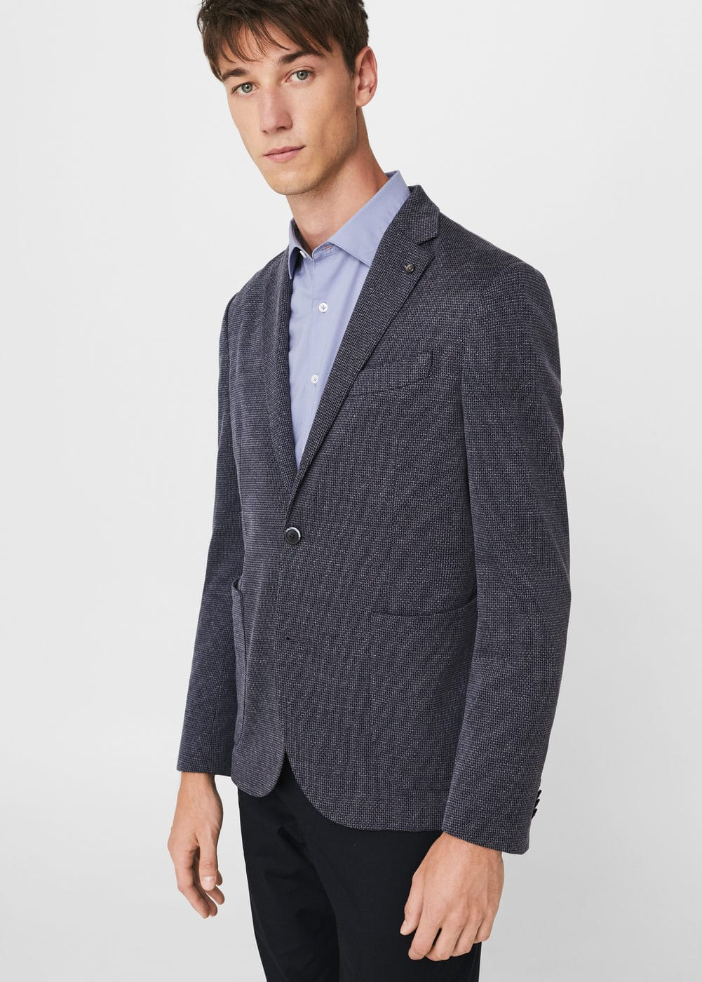 Slim-fit textured blazer | MANGO