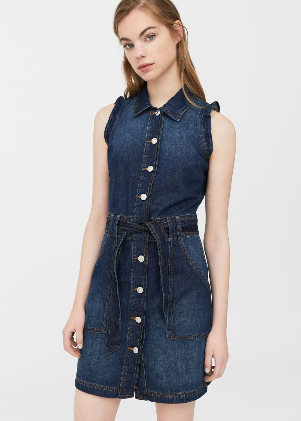Robe chemisier denim | MANGO