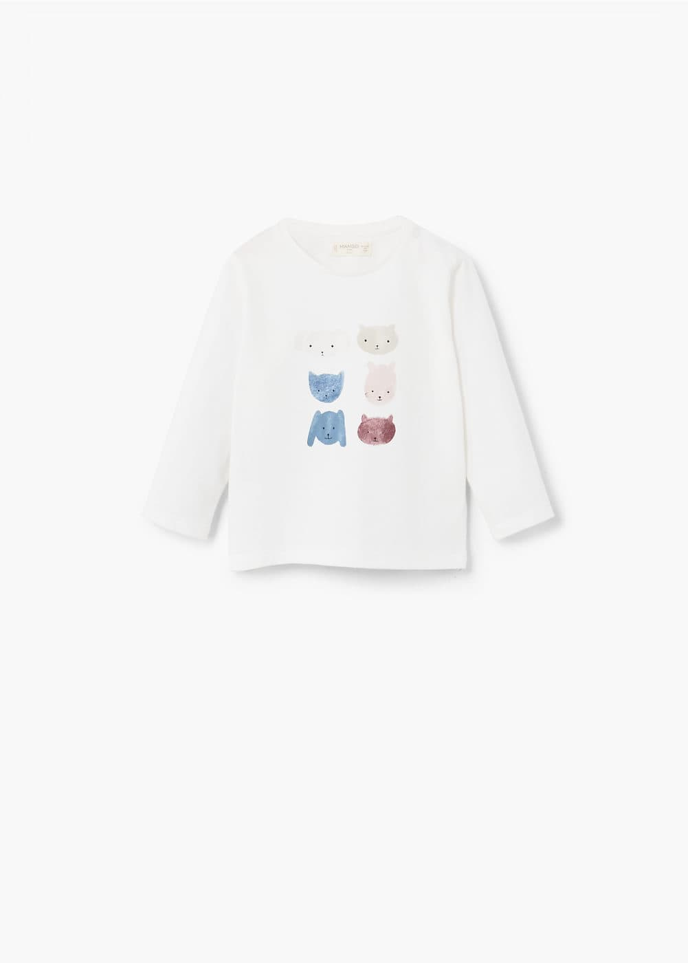 Printed picture cotton t-shirt | MANGO KIDS