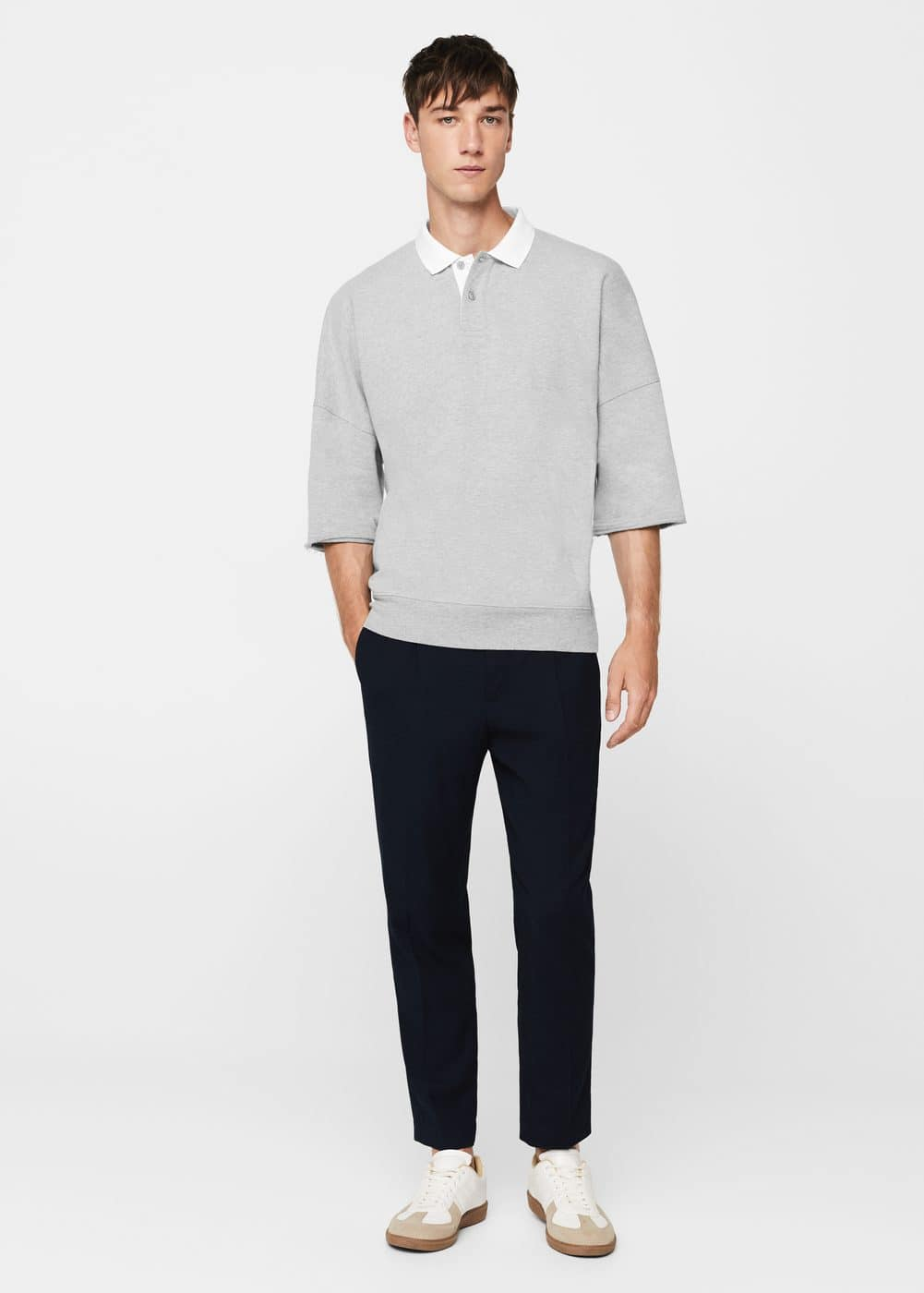 Plush cotton-blend polo shirt | MANGO