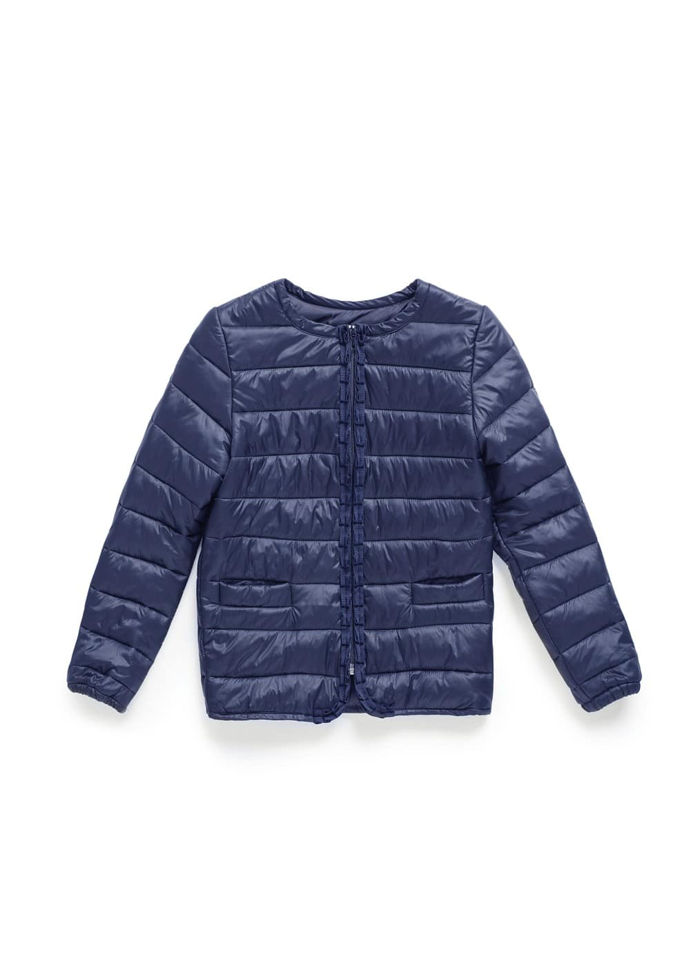 Grosgrain detail quilted coat | MANGO KIDS
