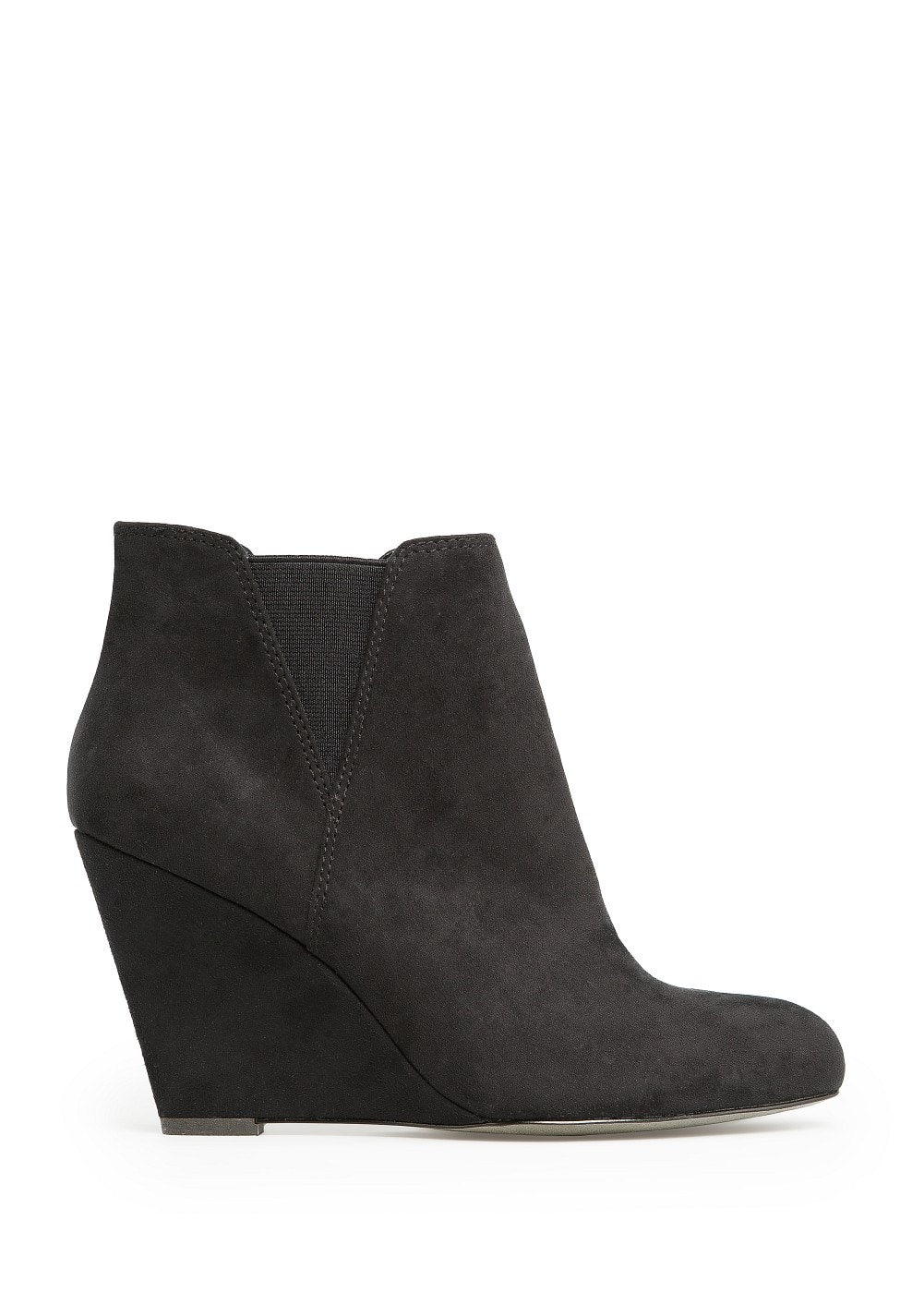 Elastic panels wedge ankle boots | MANGO