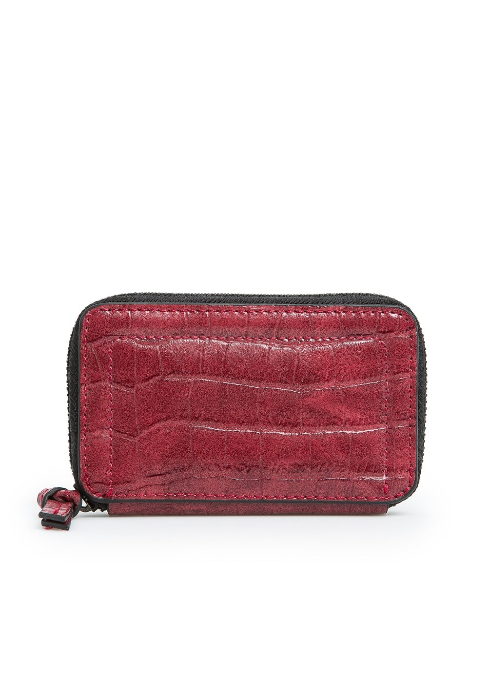 Croc effect coin purse | MANGO