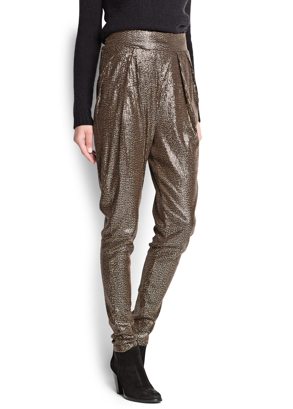 Sequin baggy trousers | MANGO