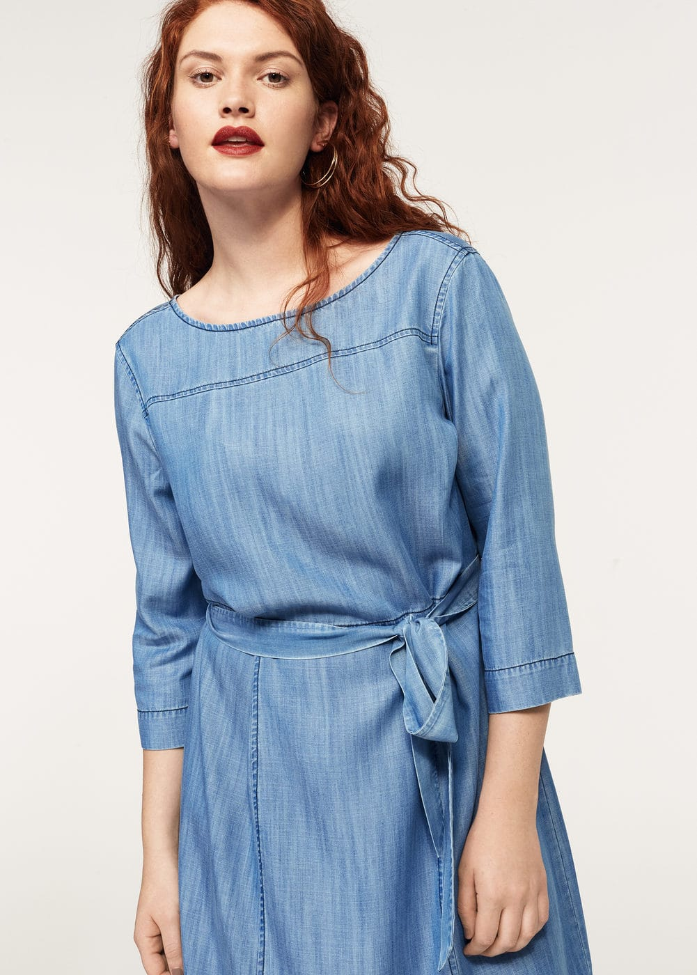 Medium denim dress | VIOLETA BY MANGO