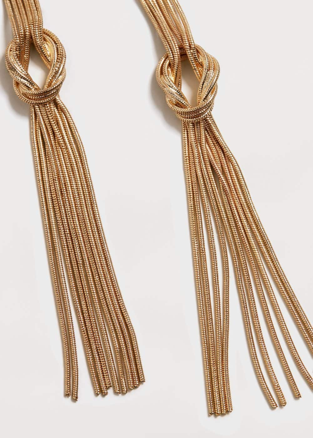 Slim chain earring | MANGO