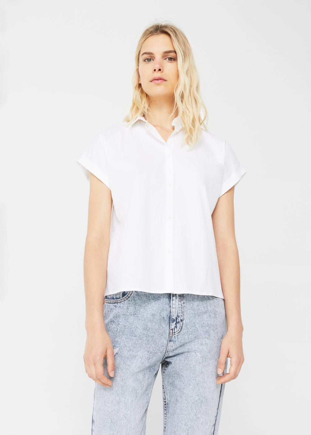 Message cotton shirt | MANGO