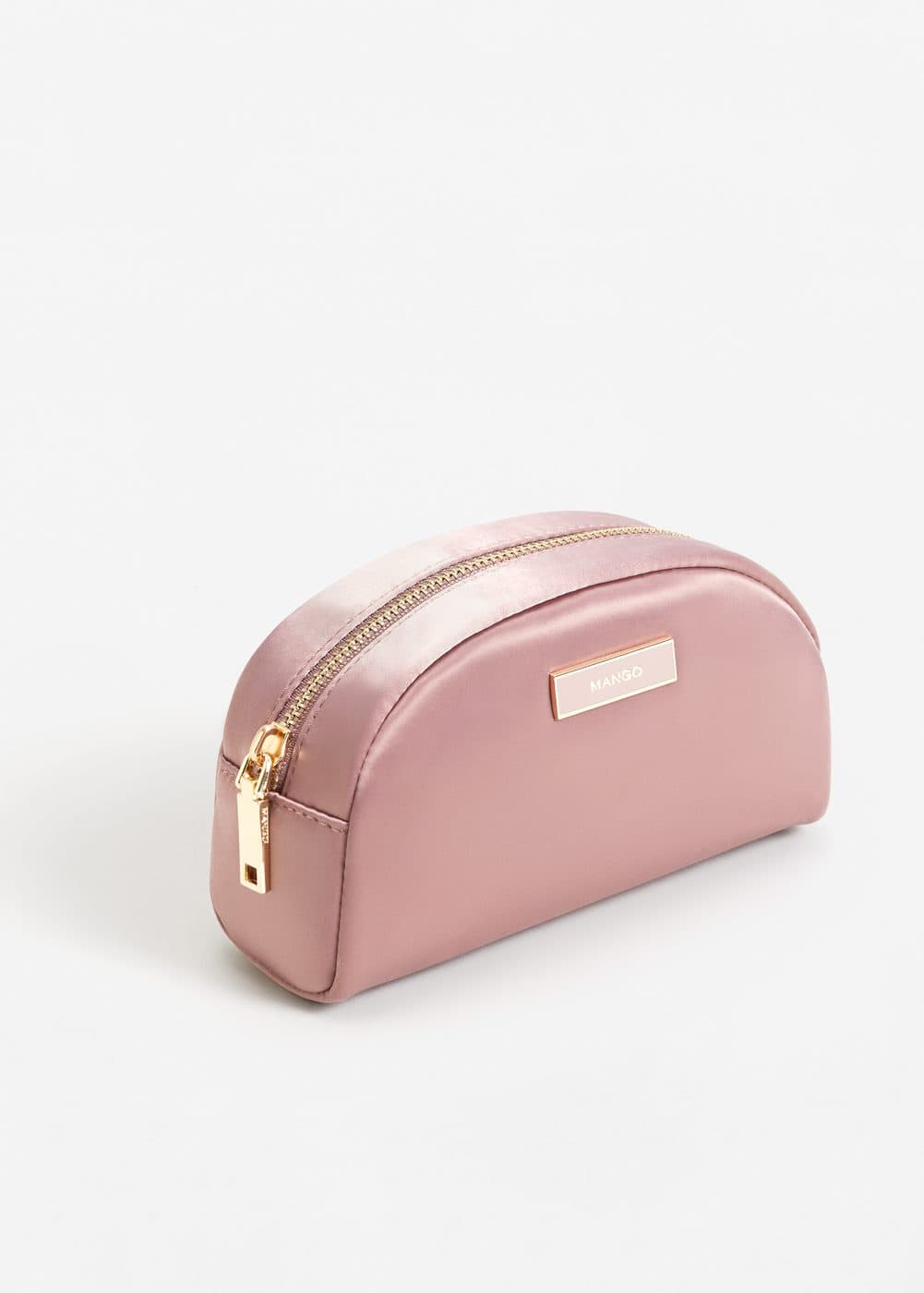 Satined effect cosmetic bag | MANGO