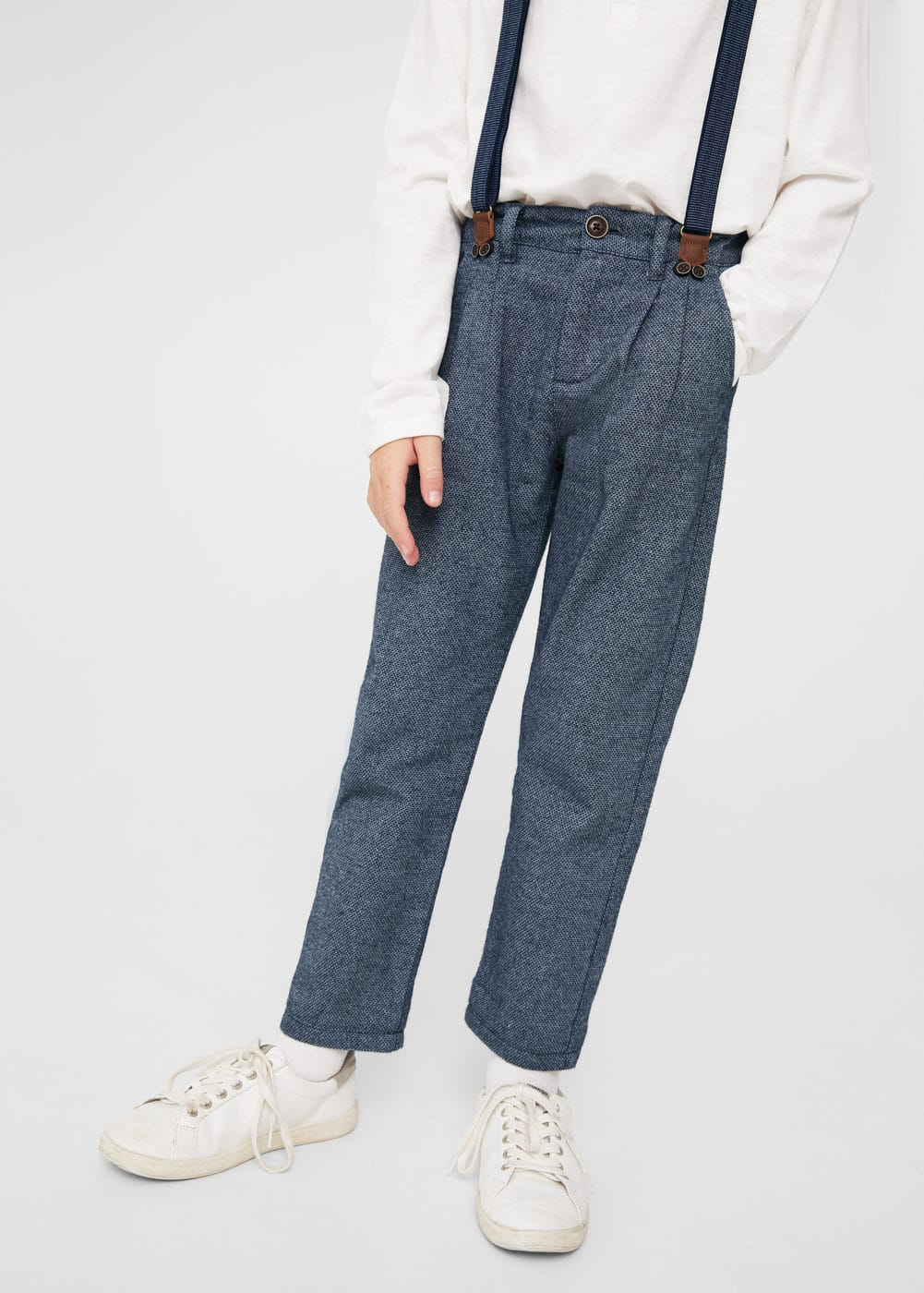Textured trouser with braces | MANGO