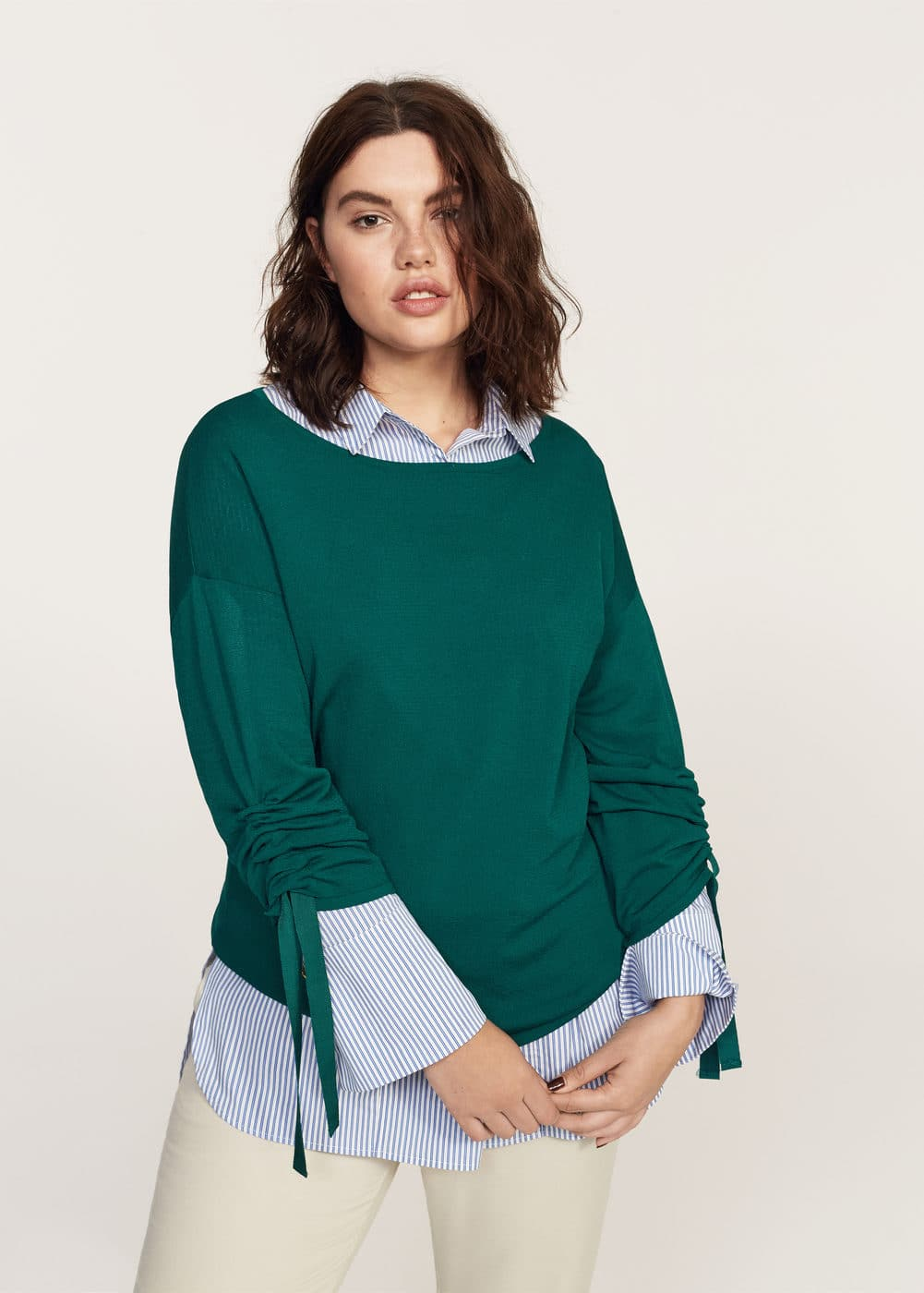 Decorative bows sweater | VIOLETA BY MANGO