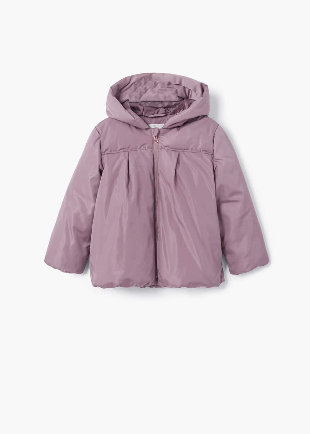 Hood quilted coat | MANGO