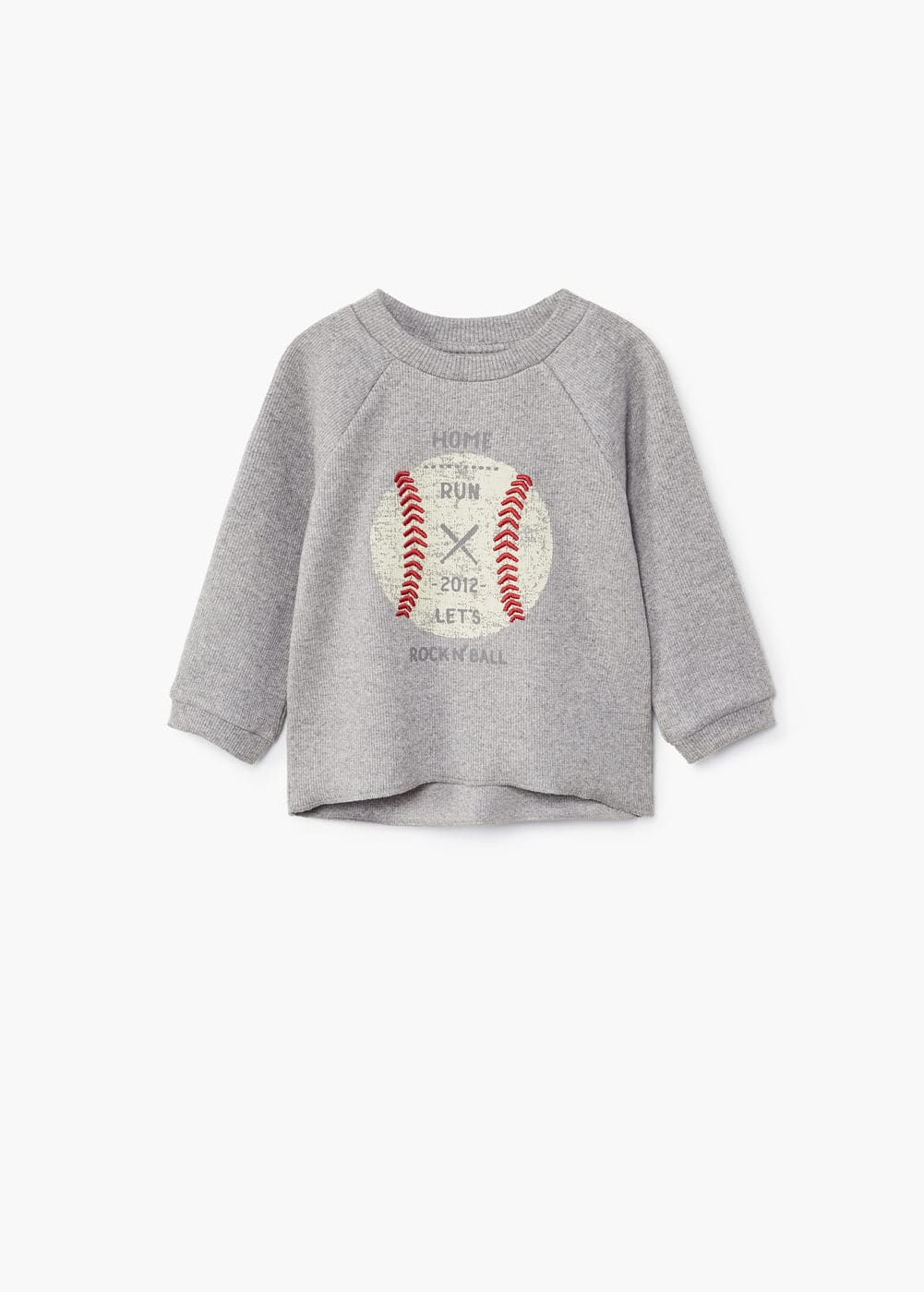 Embossed design sweatshirt | MANGO