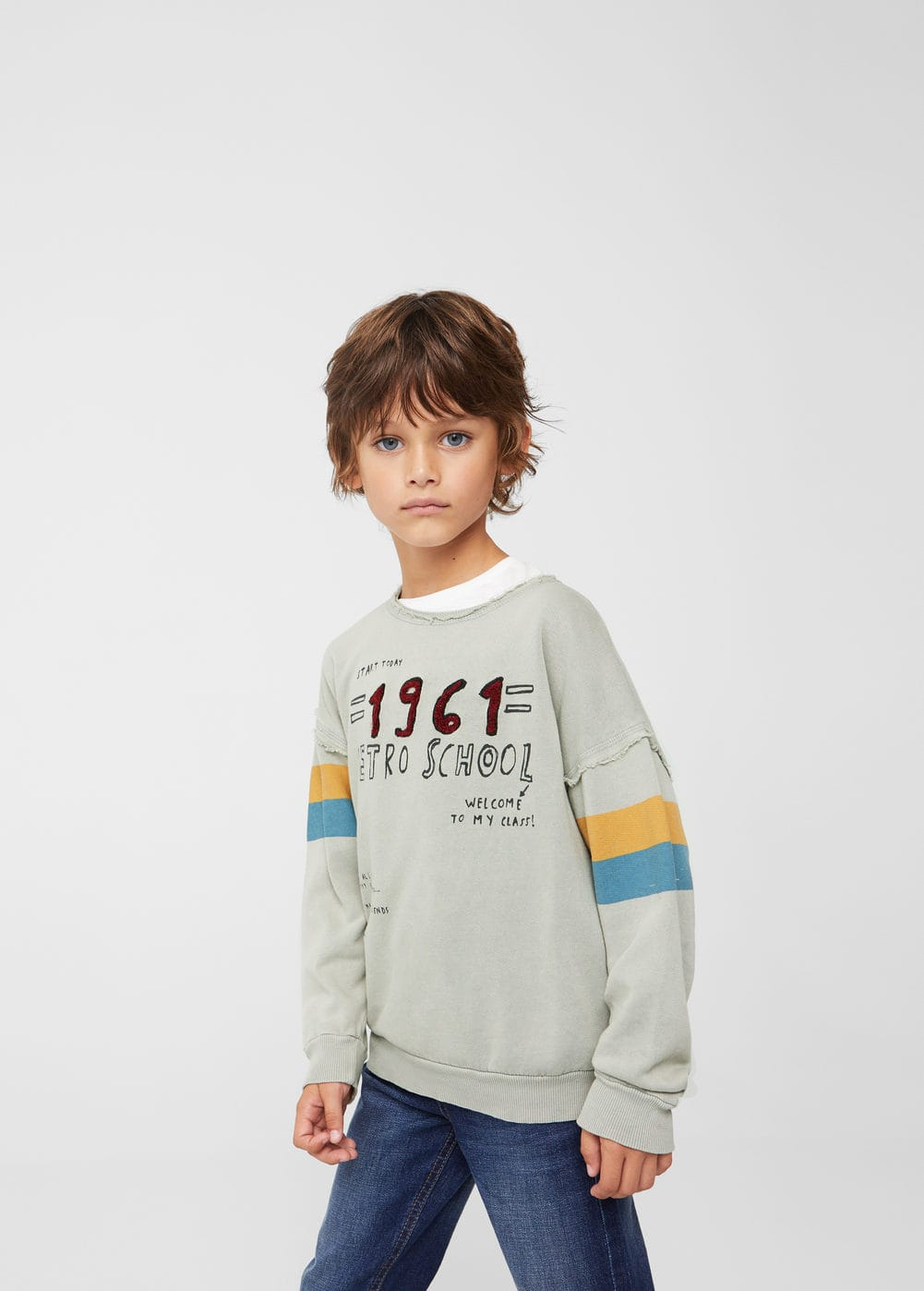 Sweat-shirt motif en relief | MANGO