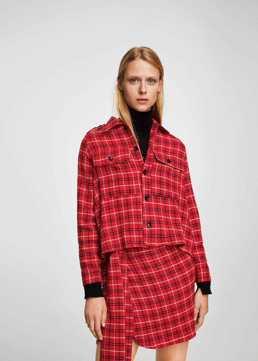 Checked overshirt | MANGO