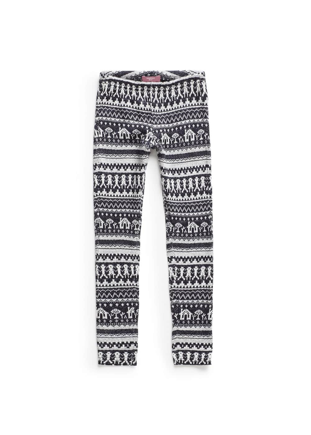 Fair isle pattern knitted leggings | MANGO KIDS