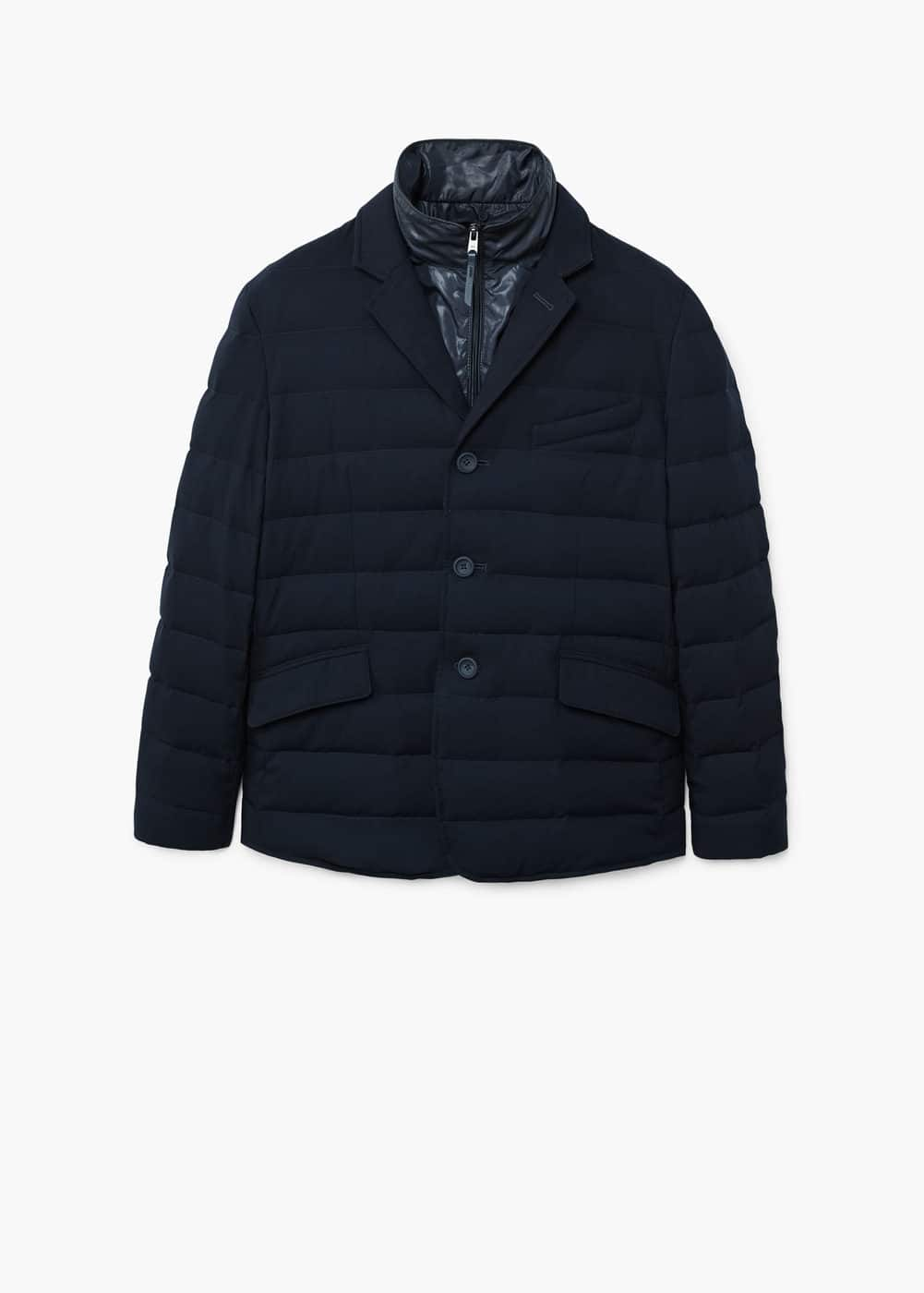 Lapel quilted jacket | MANGO