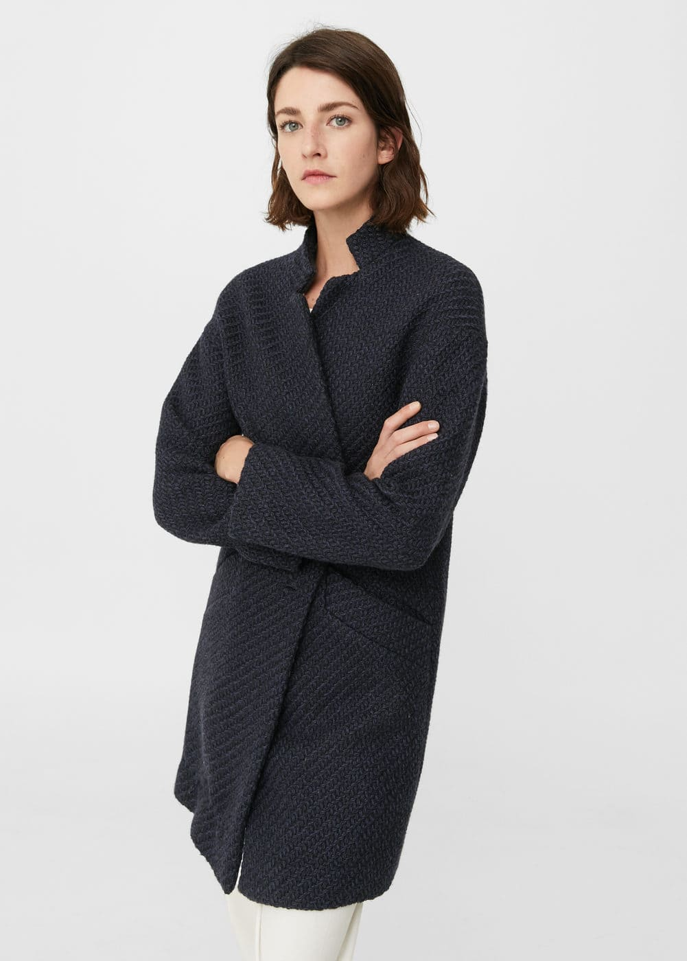 Pocketed wool coat | MANGO