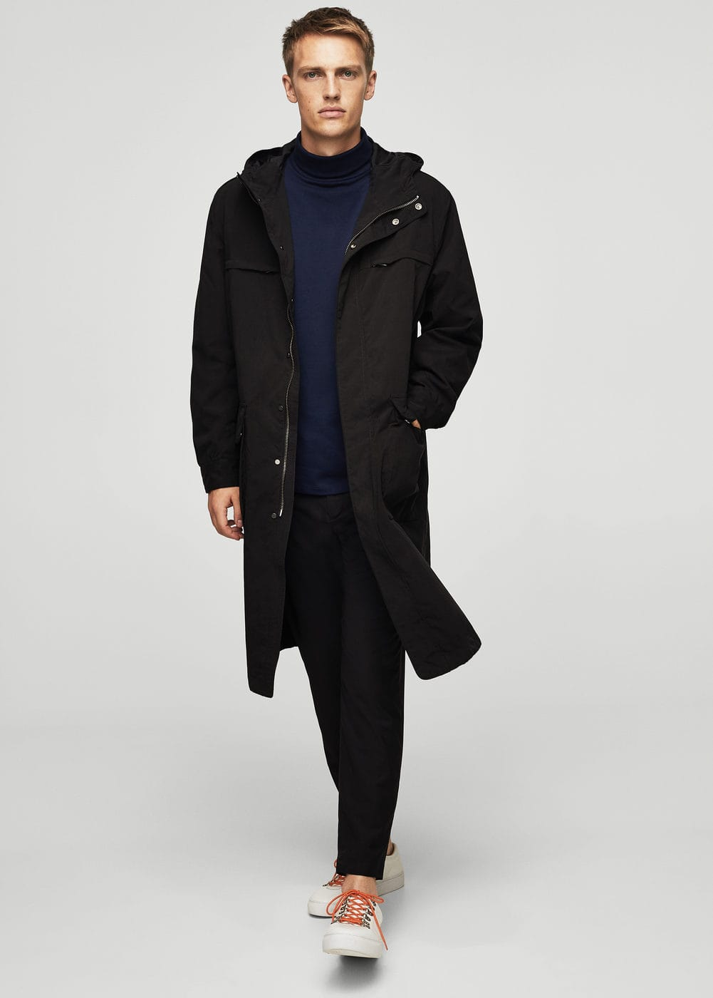 Technical fabric parka  | MANGO MAN