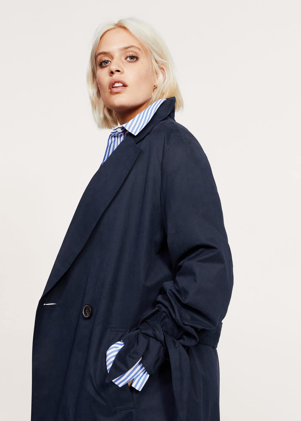 Classic trench with bows | MANGO