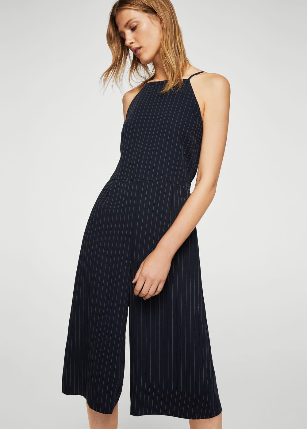 Striped jumpsuit | MANGO