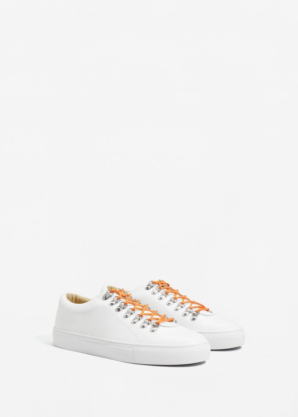 Contrast lace-up sneakers | MANGO