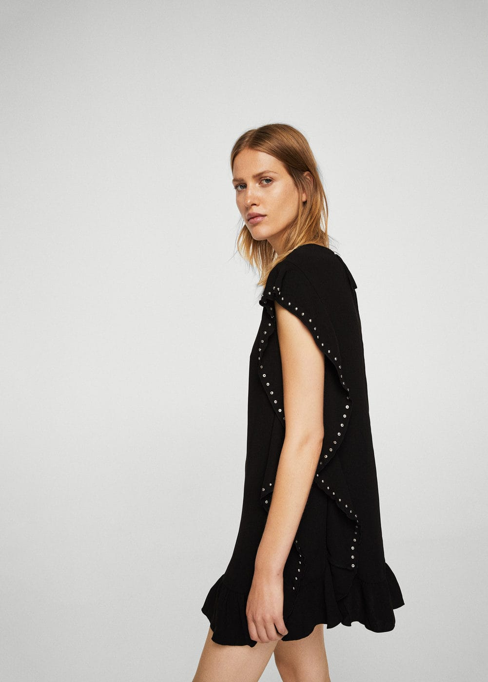 Studded ruffle dress | MANGO