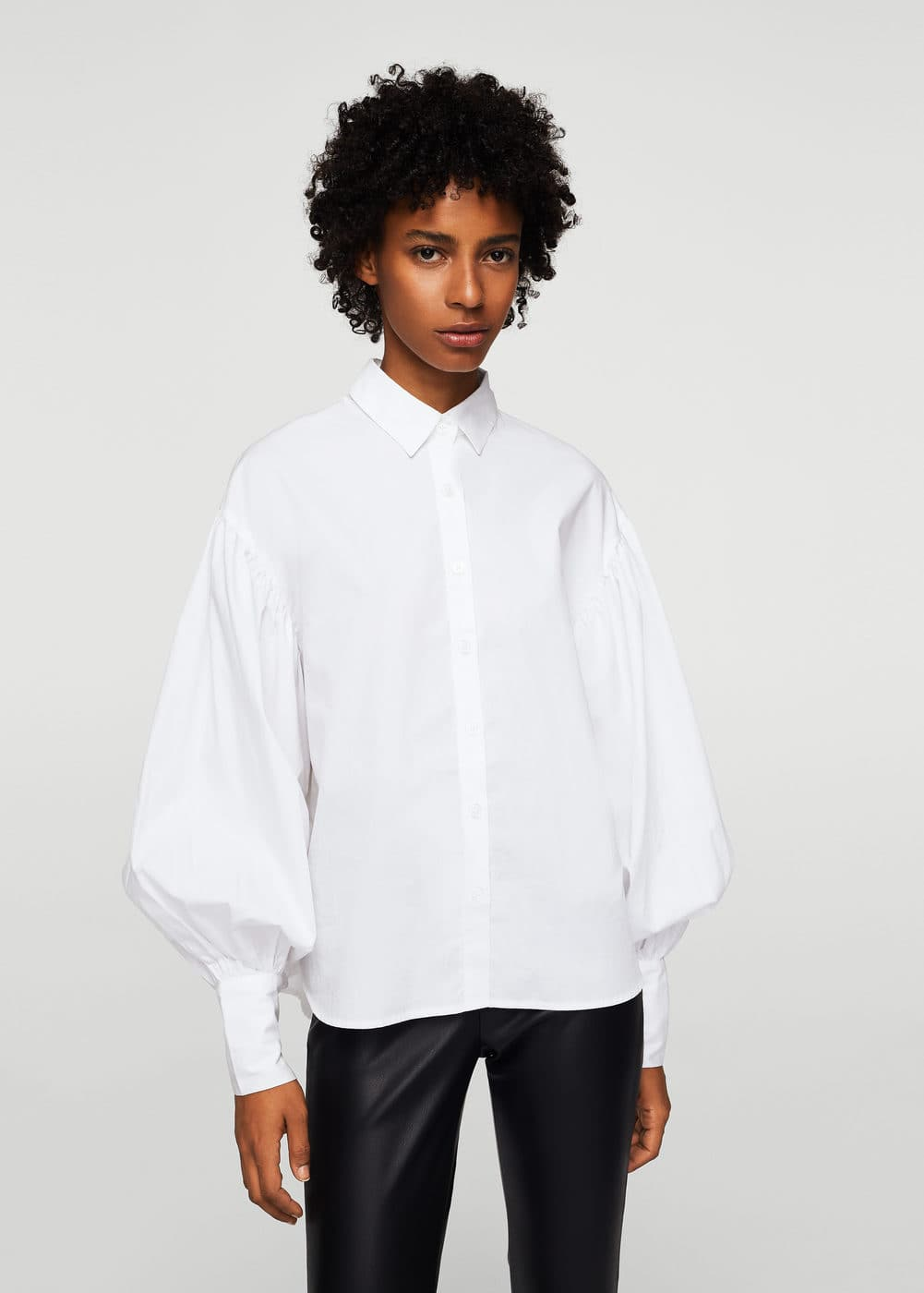 Puffed sleeves shirt | MANGO