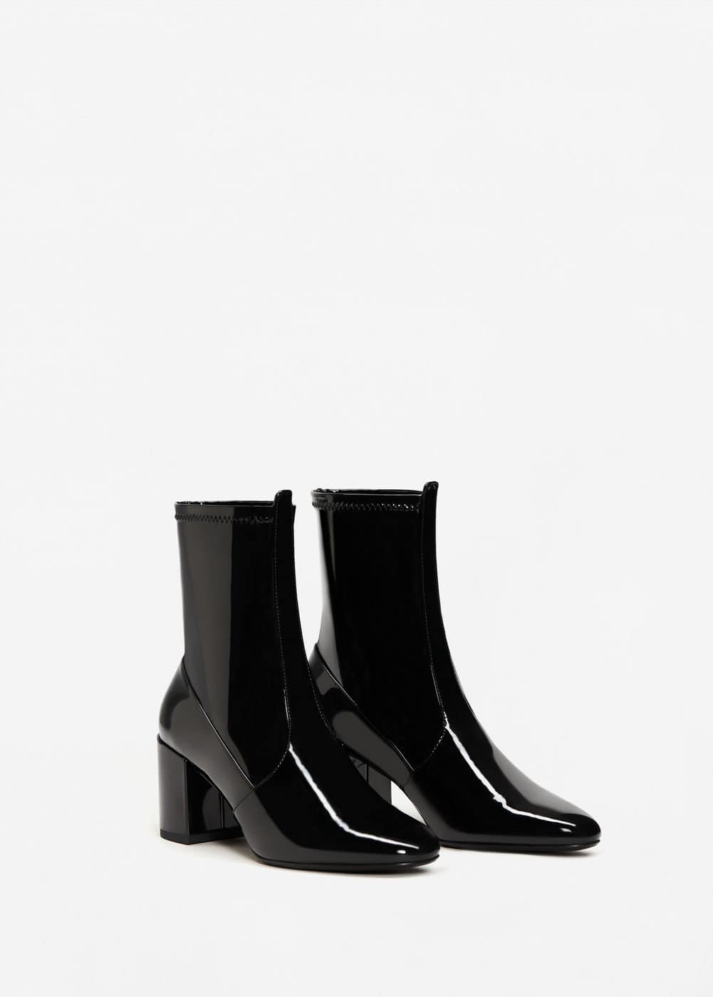 Patent ankle boots | MANGO