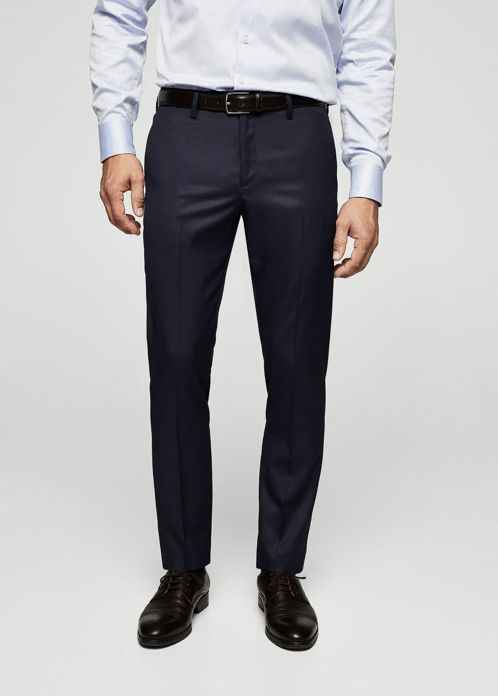 Slim-fit cotton suit trousers | MANGO