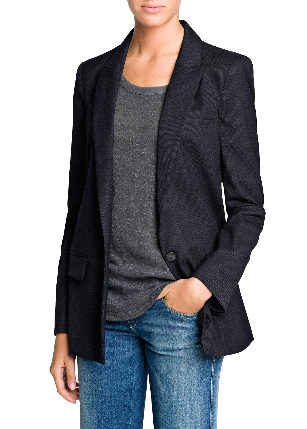 Textured suit blazer | MANGO