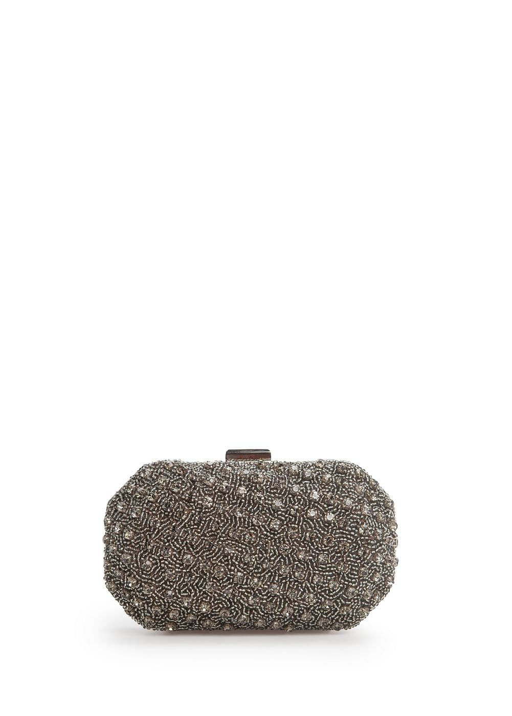 Crystal and bead box clutch | MANGO