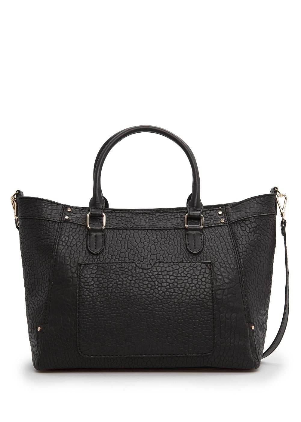 Tumbled faux leather tote bag | MANGO