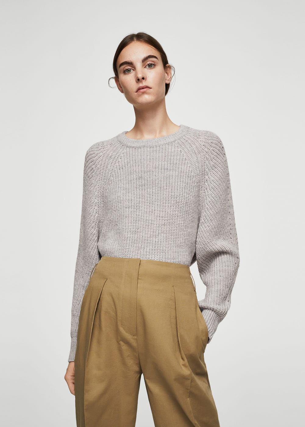 Chunky-knit sweater | MANGO