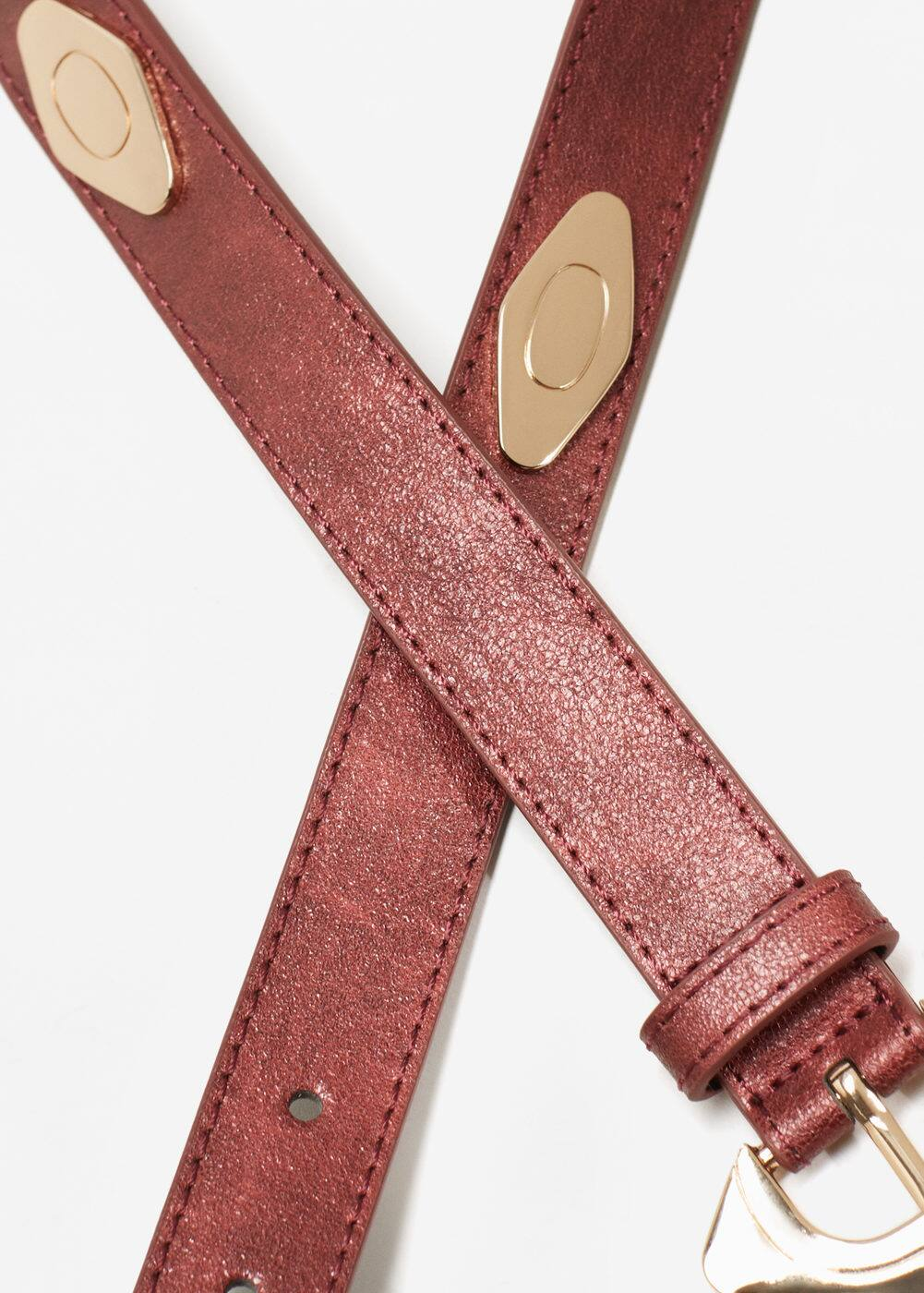 Buckled studded belt | MANGO