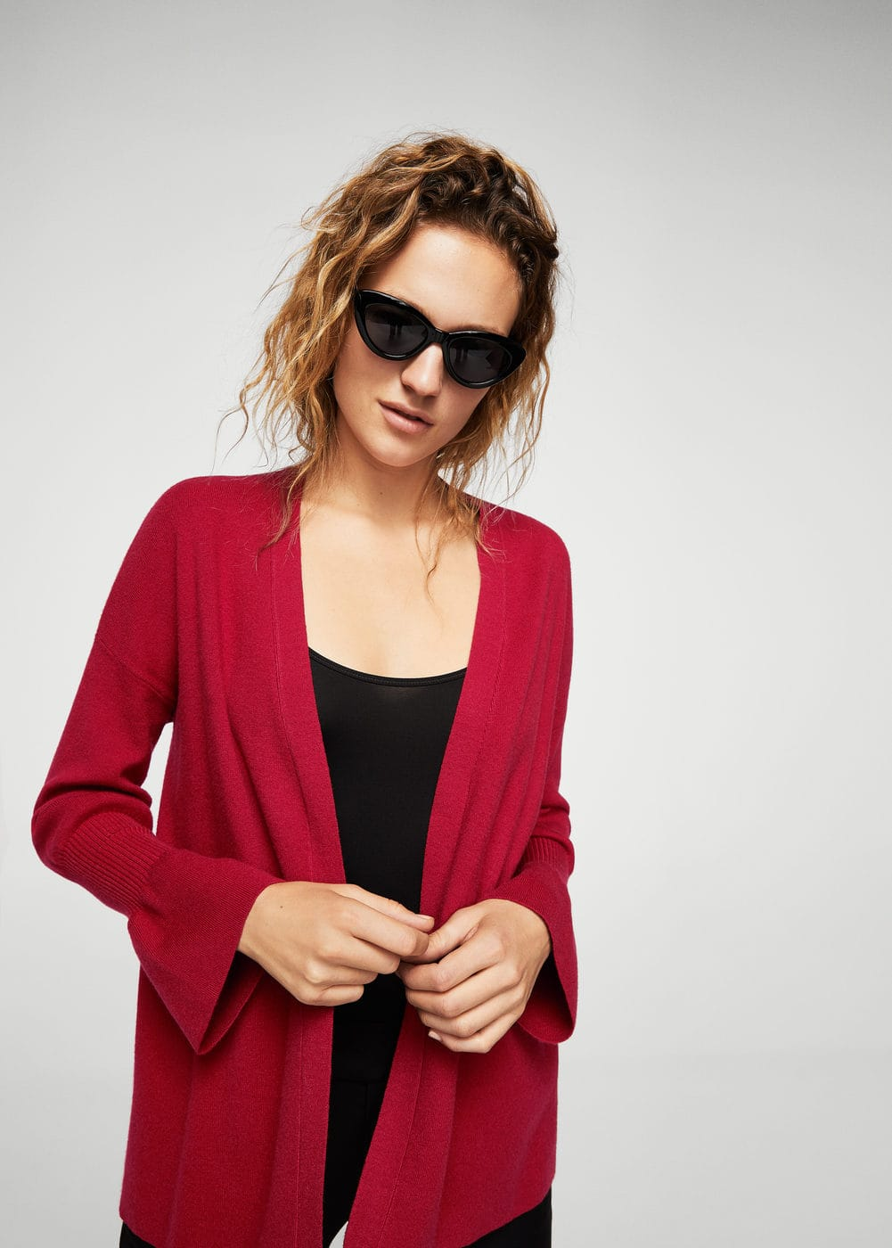 Ribbed detail cardigan | MANGO