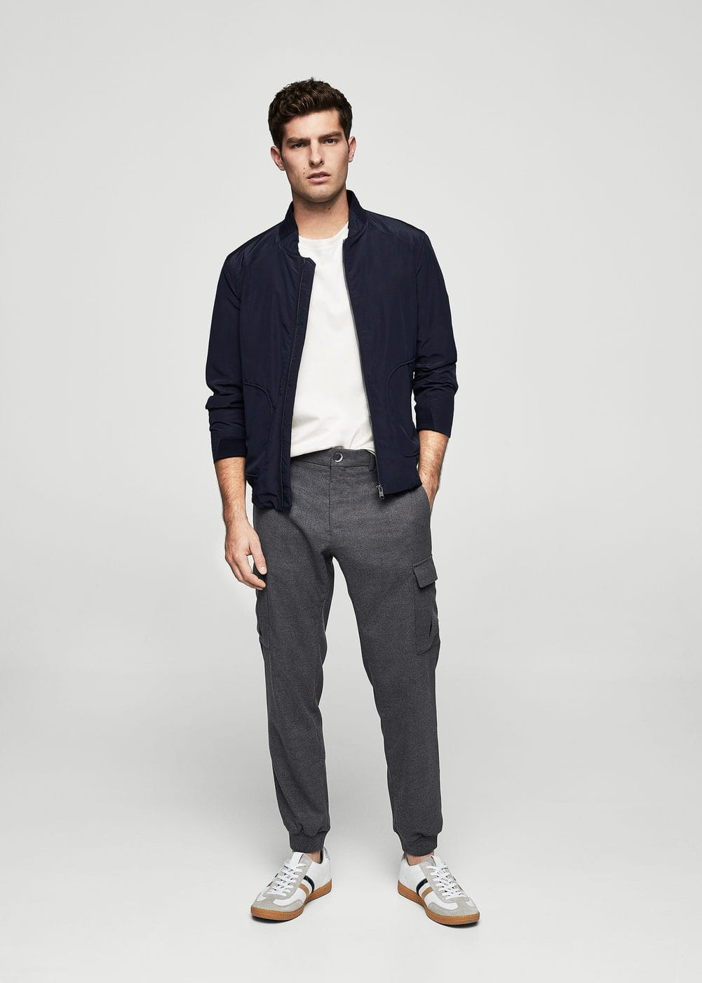 Marbled cargo trousers    MANGO MAN