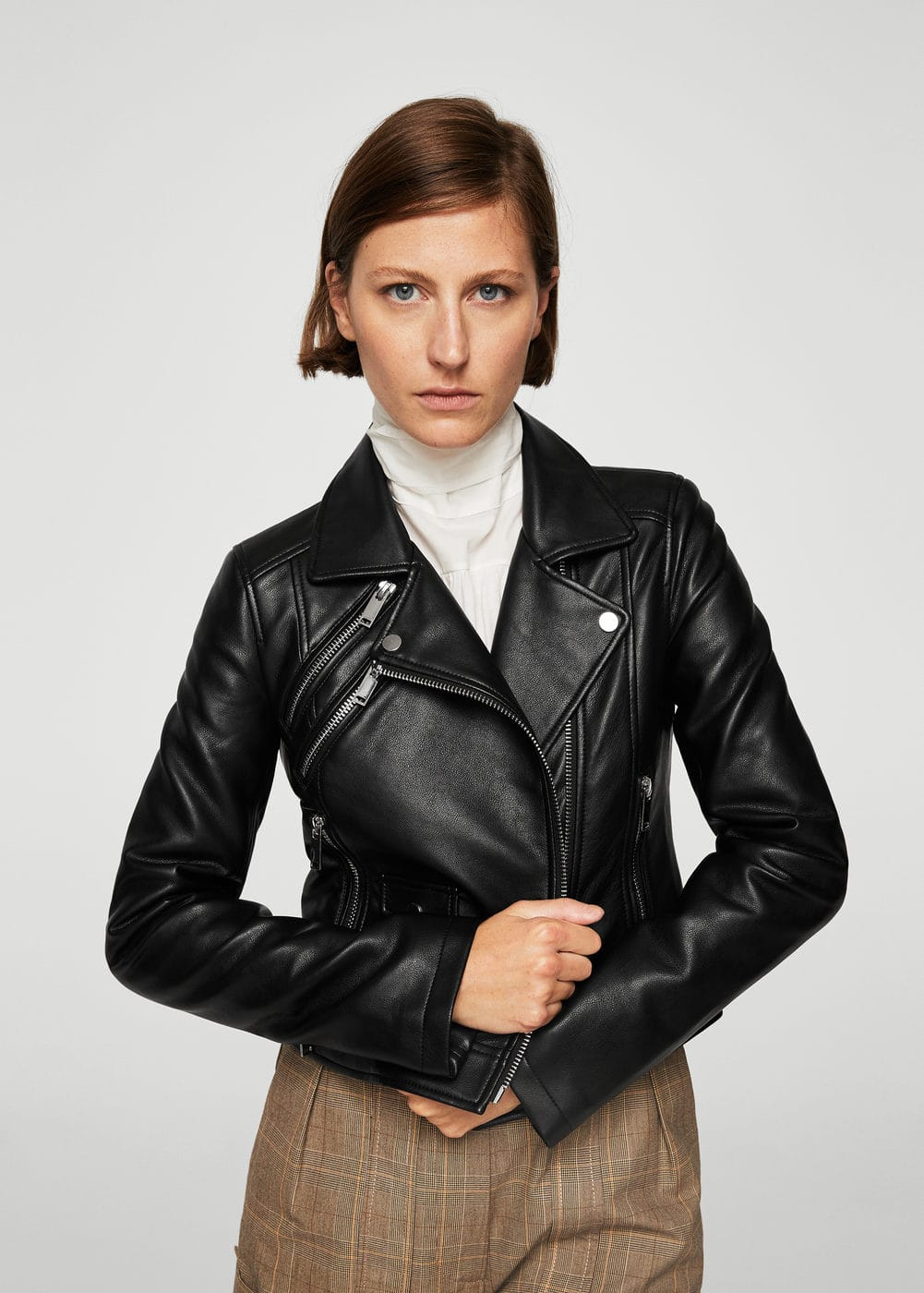 Lace up biker jacket | MANGO