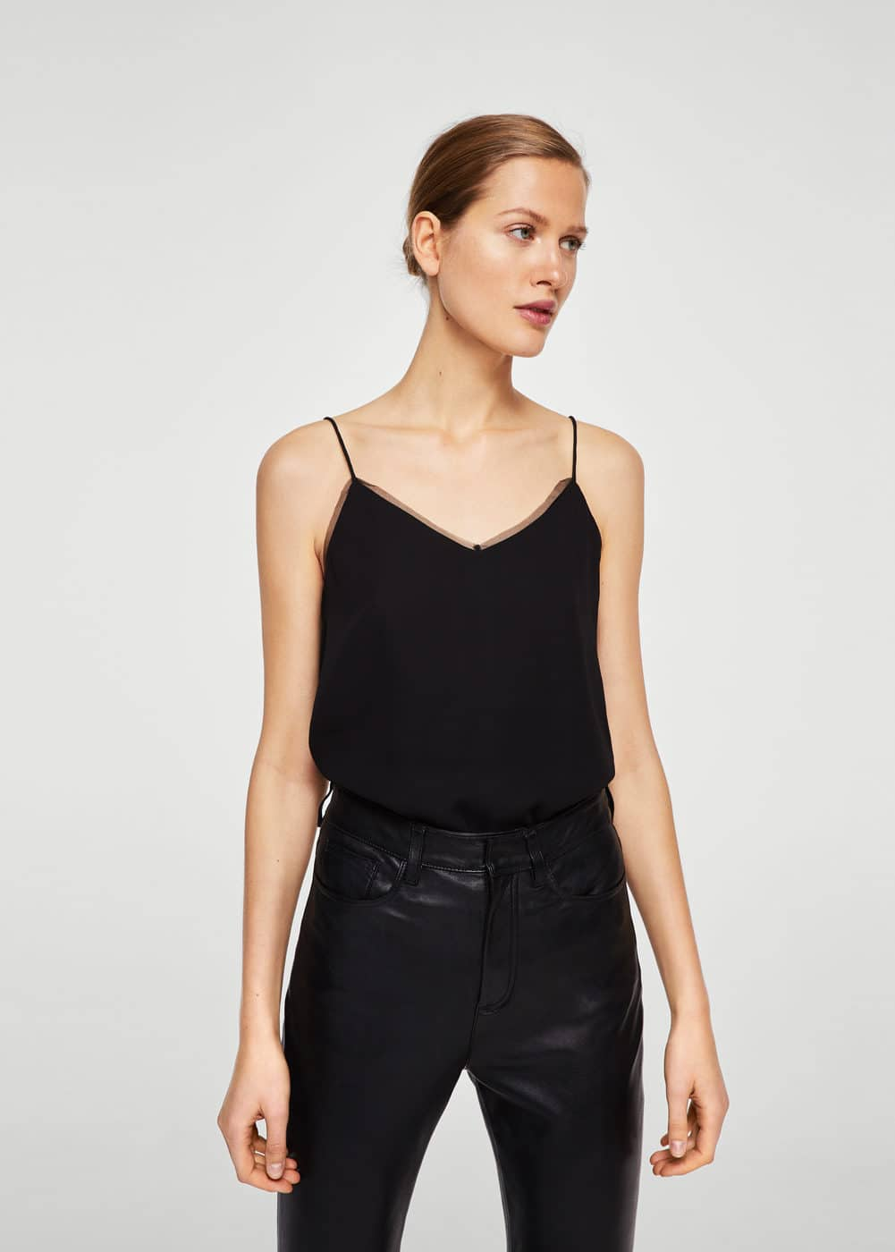 Sheer panel top | MANGO