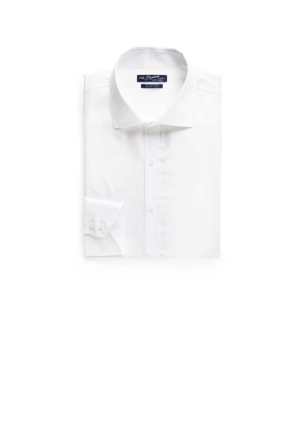 Slim-fit textured premium shirt | MANGO MAN