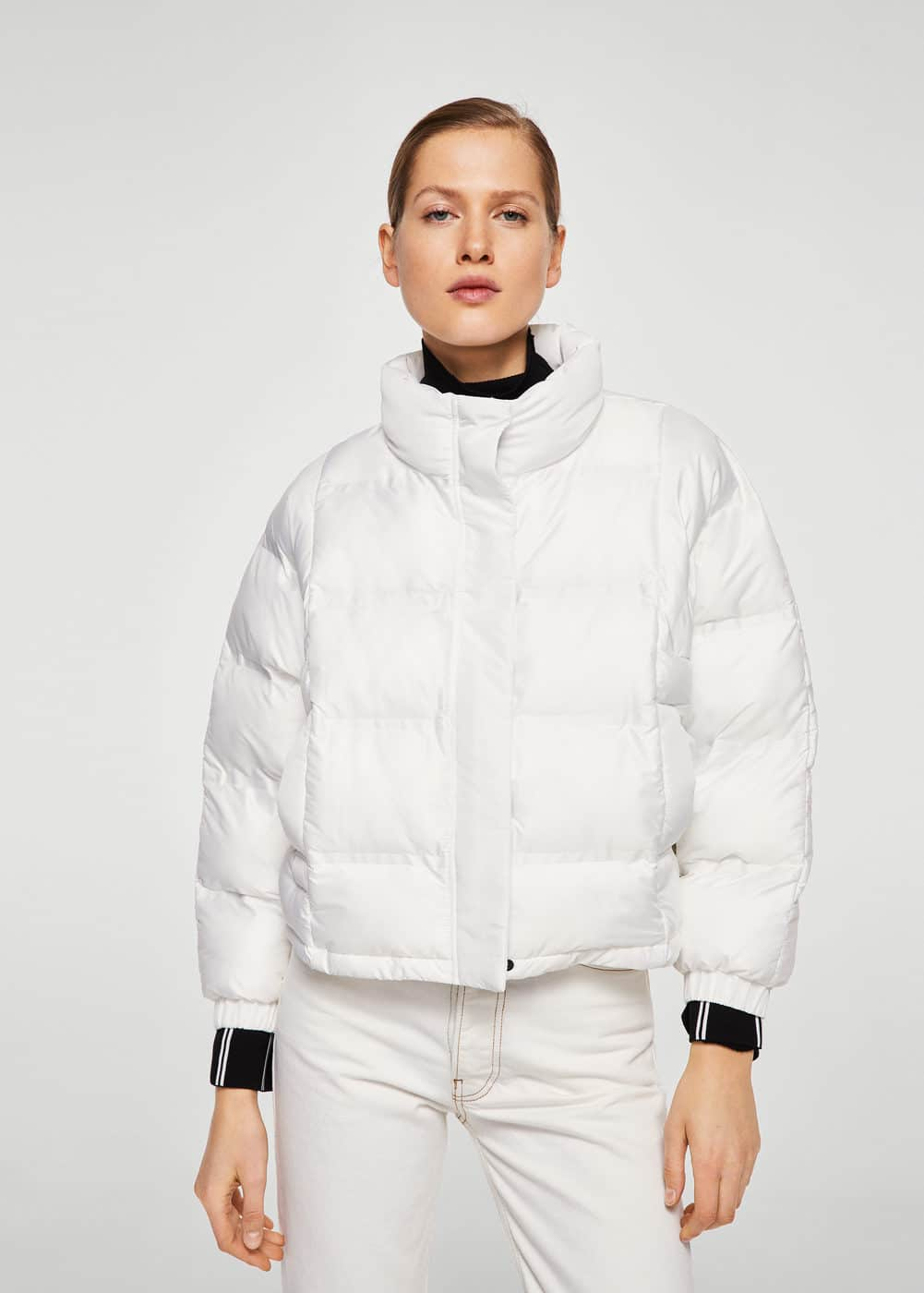 Quilted feather coat | MANGO
